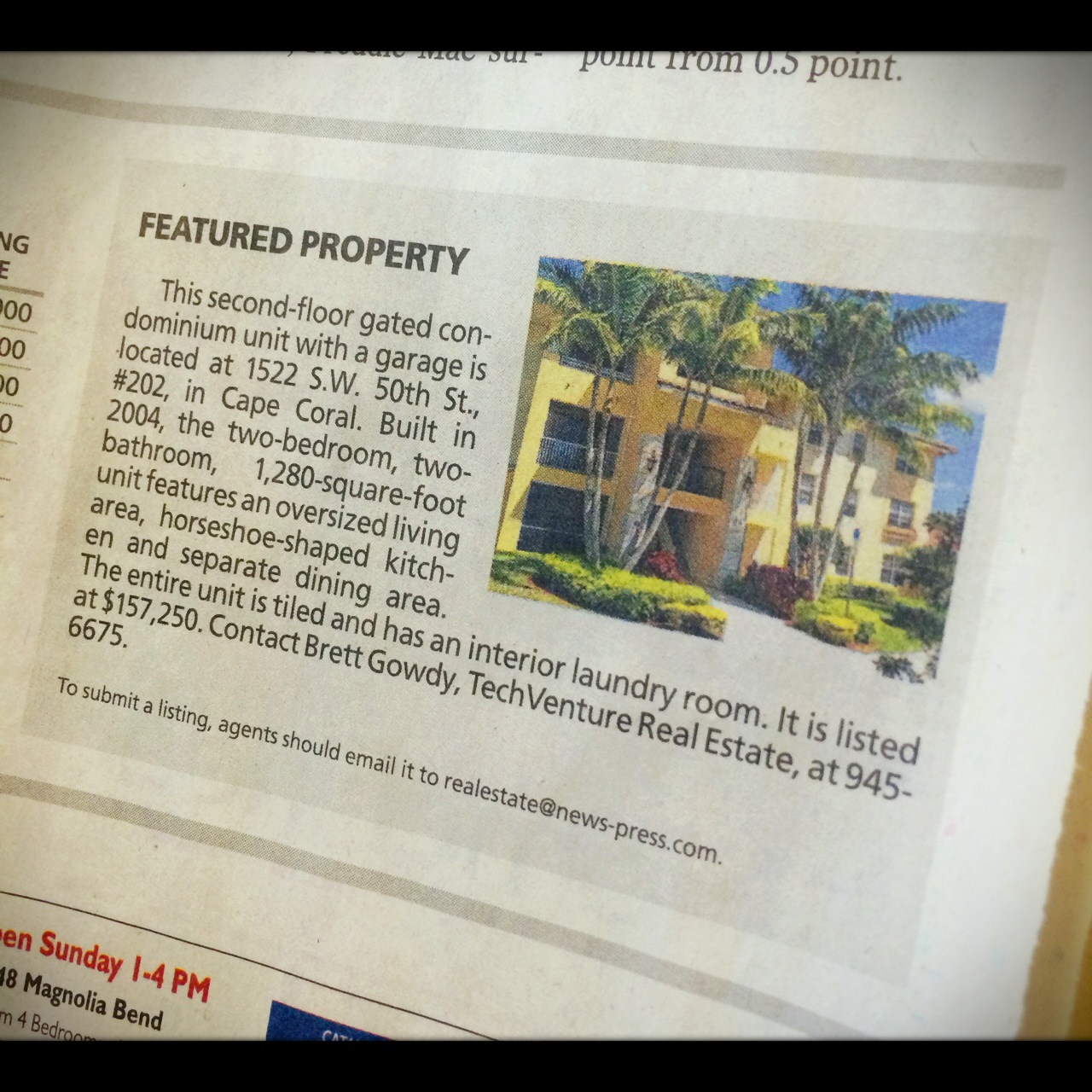 Our Listing Featured On News-Press This Week